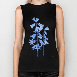 botanical bluebell flowers watercolor Biker Tank