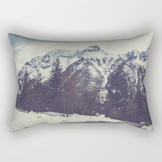 Snow on the Mountains Rectangular Pillow