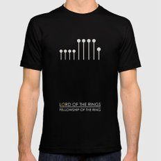 Fellowship Of The Ring - Lord of the rings Mens Fitted Tee Black LARGE