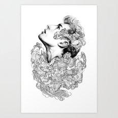 Facial explosion part 3 Art Print