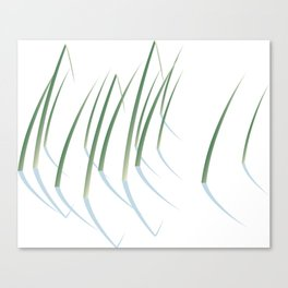 Reeds in Snow Canvas Print