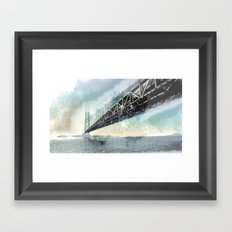 San Francisco - Bay Bridge Framed Art Print