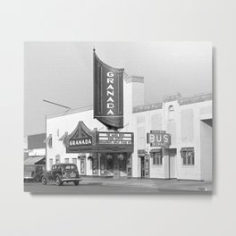 Granada Movie Theater, 1938. Vintage Photo Metal Print