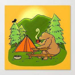Mountain Air Booty Bear Canvas Print