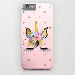 Floral Unicorn  iPhone Case