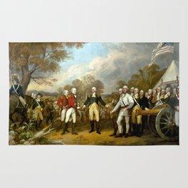 The Surrender of General Burgoyne Rug