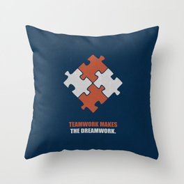 Lab No. 4 - Teamwork makes the dreamwork corporate start-up quotes Poster Throw Pillow