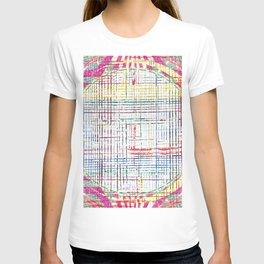 The System - pink motif T-shirt