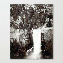 Eadweard Muybridge Pi-Wi-Ack (Shower of Stars) Vernal Fall Valley of Yosemite Canvas Print