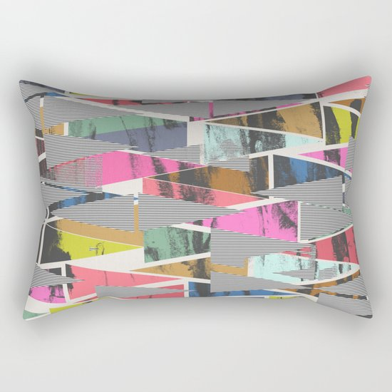 Triangles 21 Rectangular Pillow
