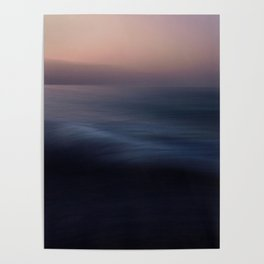 Seascape blue abstract Poster