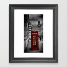 Famous London Phone Box Framed Art Print