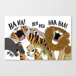 Big Cats Laughing Canvas Print
