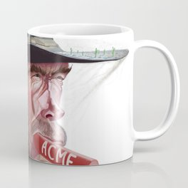 Caricature of Clint Eastwood Coffee Mug