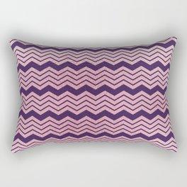 Geometrical purple pastel pink ombre chevron Rectangular Pillow