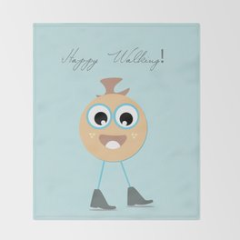 Happy walking Throw Blanket