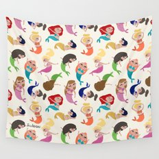 Baby Mermaids Wall Tapestry