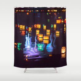 Festival of water lights Shower Curtain