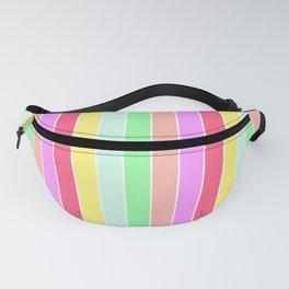 Pastel Rainbow Sorbet Deck Chair Stripes Fanny Pack