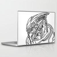 garrus Laptop & iPad Skins featuring Garrus by Cat Milchard