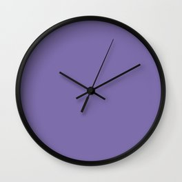 Dahlia Purple Wall Clock