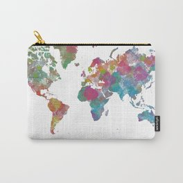 World Map - Watercolor 3 Carry-All Pouch
