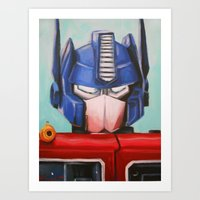 optimus prime Art Prints featuring Optimus Prime by Hillary White
