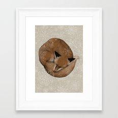 Sleepy Fox Framed Art Print