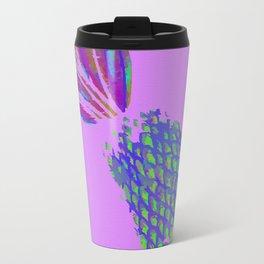 Neon Pineapple Punch on textured pink Travel Mug