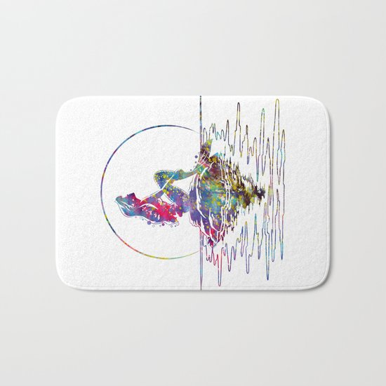 The Little Mermaid Ariel Silhouette Watercolor Bath Mat