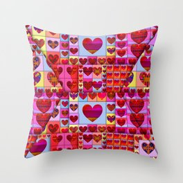 my heart is sealed Throw Pillow