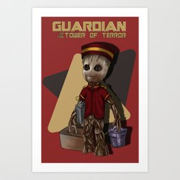 Guardian of the Tower of Terror by Topher Adam 2017 Art Print