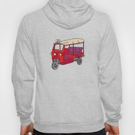 Red tuktuk / autorickshaw Hoody