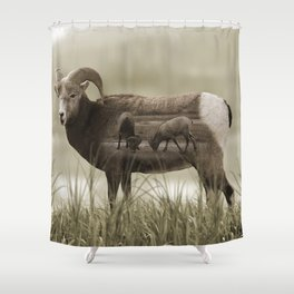 Hungry Goats Shower Curtain