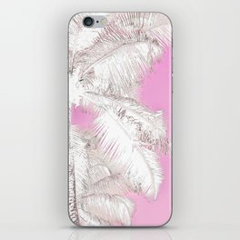 High palms in pink iPhone Skin