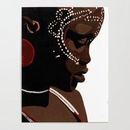 Mursi girl Poster