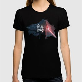 "Do or do not there is no try...""Yoda"" Life Inspirational Quote (Abstract Art) T-shirt"