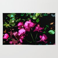 free shipping Area & Throw Rugs featuring Rose garden by Ordiraptus
