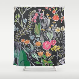 Summer Garden at Midnight Shower Curtain