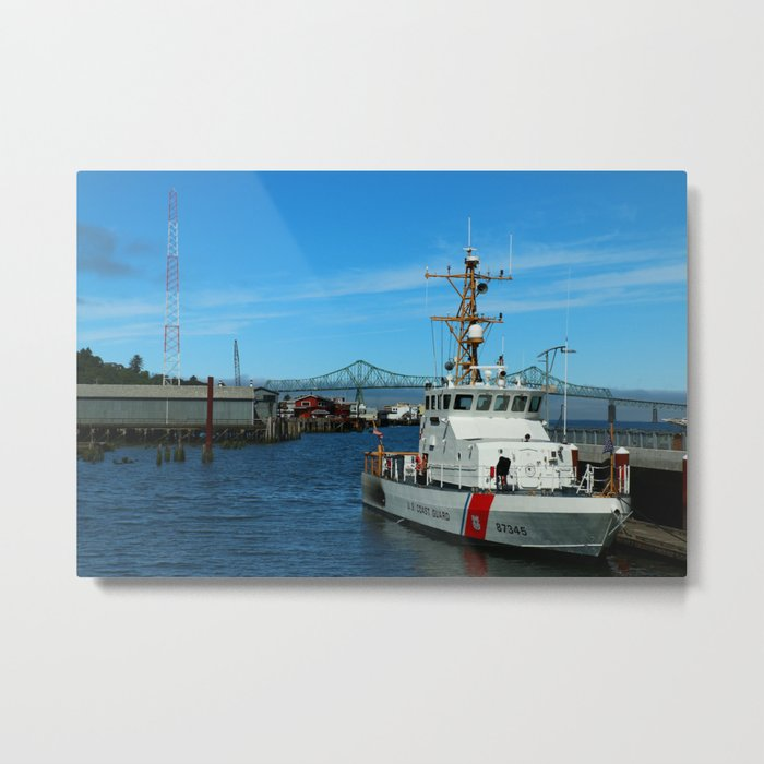 US Coast Guard On Columbia River Metal Print