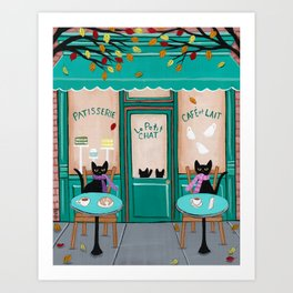 Paris Cafe for Cats Kunstdrucke