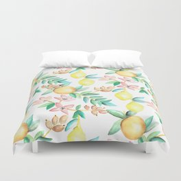 Flowers and Fruits Duvet Cover