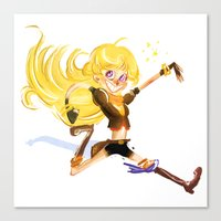 roosterteeth Canvas Prints featuring Yang by Esperanza Díaz