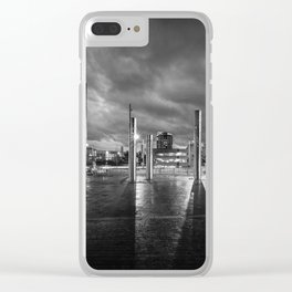 Swansea city centre at night Clear iPhone Case