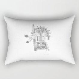 Inca Warrior Rectangular Pillow
