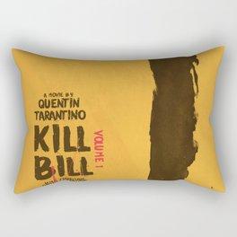 Kill Bill, Quentin Tarantino, minimal movie poster,  Uma Thurman, Lucy Liu, alternative film Rectangular Pillow