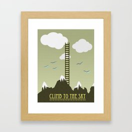 Climb to the Sky Framed Art Print