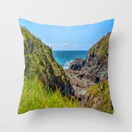 Lizard Walk - Caerthillian Cove Throw Pillow