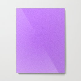 Dense Melange - White and Violet Metal Print