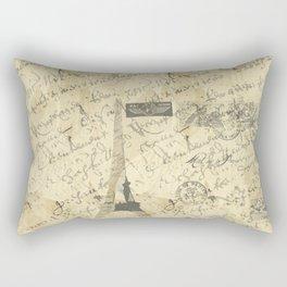Parisian French Script Rectangular Pillow